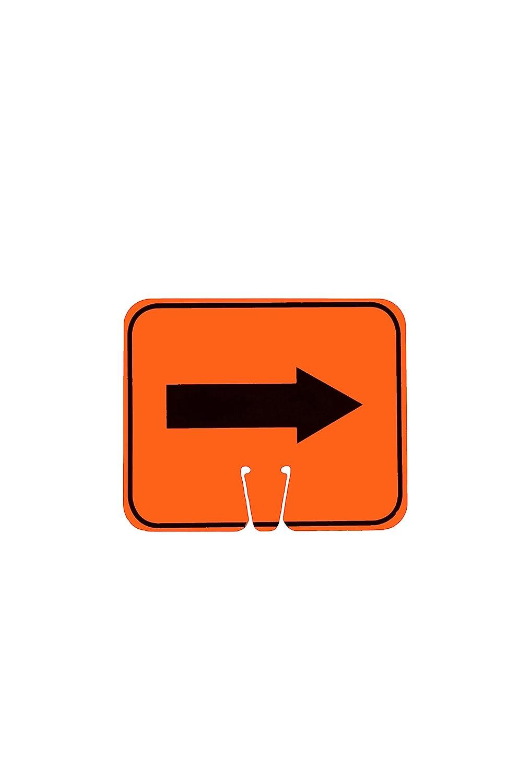 "Cortina ABS Plastic Traffic Cone Sign,""Reversible Arrow"" 03-550-2WA, 12.75"" Width x 10.375"" Height, Orange on Black"