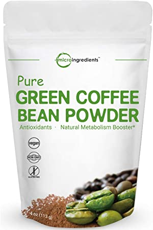 Pure Green Coffee Bean Extract, 4 Ounce, Green Coffee Bean Fat Burn Supplement, Supports Metabolism and Weight Management, No GMOs