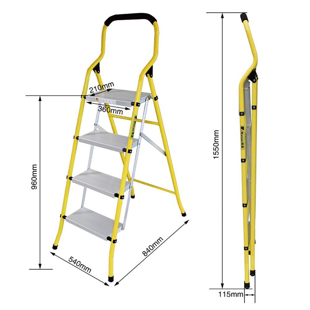 YD-Step stool Homewares Folding Step Stool Chairs Adults & Kids Aluminium Small Folding Anti-Slip Ladder Portable Stepladder/Storage Shelf/Flower Rack /&
