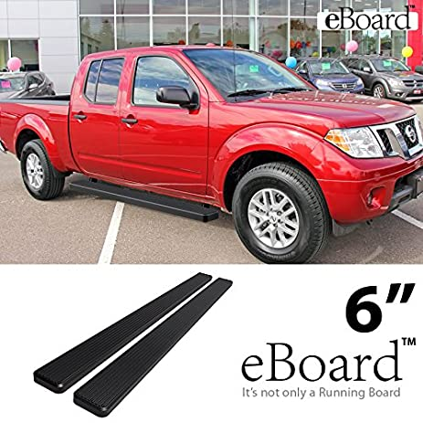 EBoard Running Boards Black 6u0026quot; Fit 2005 2017 Nissan Frontier Crew Cab  Pickup 4