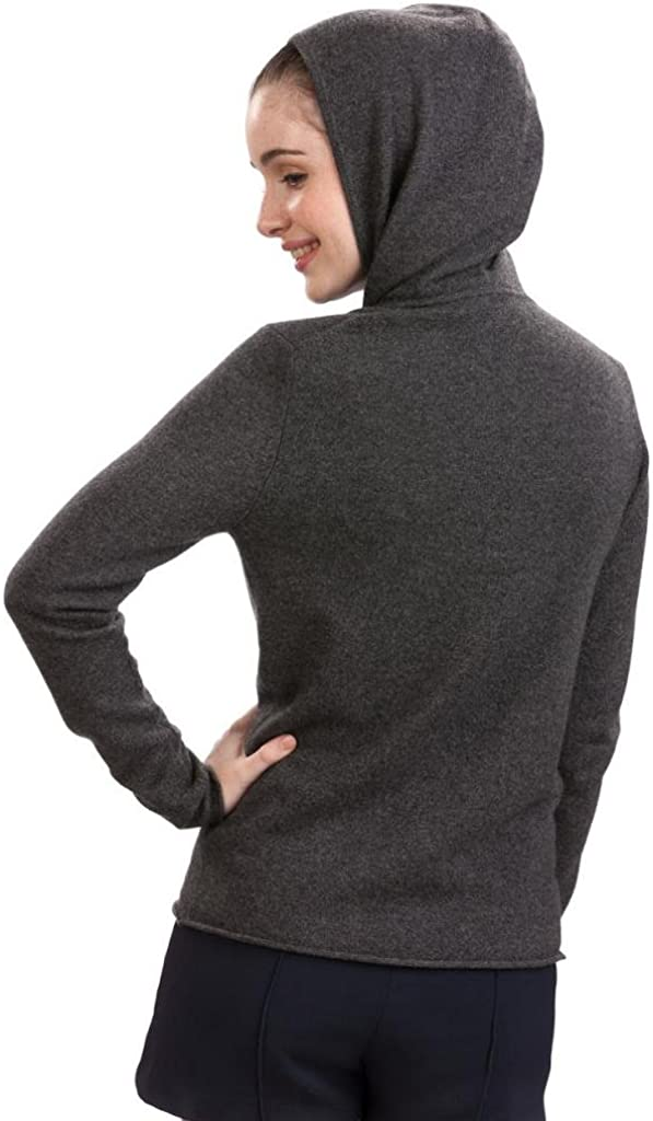 Citizen Cashmere Hoodie Mujer - 100% Cachemira Gris Oscuro