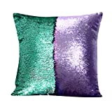 NOOS Two-color Reversible Sequins Mermaid Pillow Case Cover Throw Cushion Case 16X16Home Decor Party/Sofa/Bed