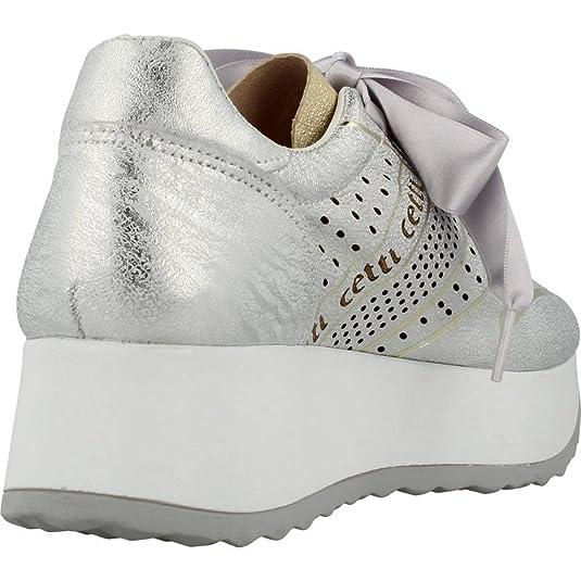 Damenschuhe Damen Laufschuhe Cetti C1073 V18 Sneaker Farbe Silber