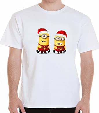 minion Christmas t shirt despicable me: Amazon.co.uk: Clothing