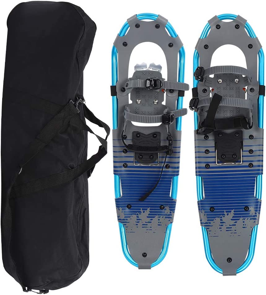 POCREATION 30 Inches Light Weight Snowshoes,Hike Snowshoes Aluminum Frame Snowfield Flexible Walking with Carrying Tote for Women Men Youth Kids,30x9inch