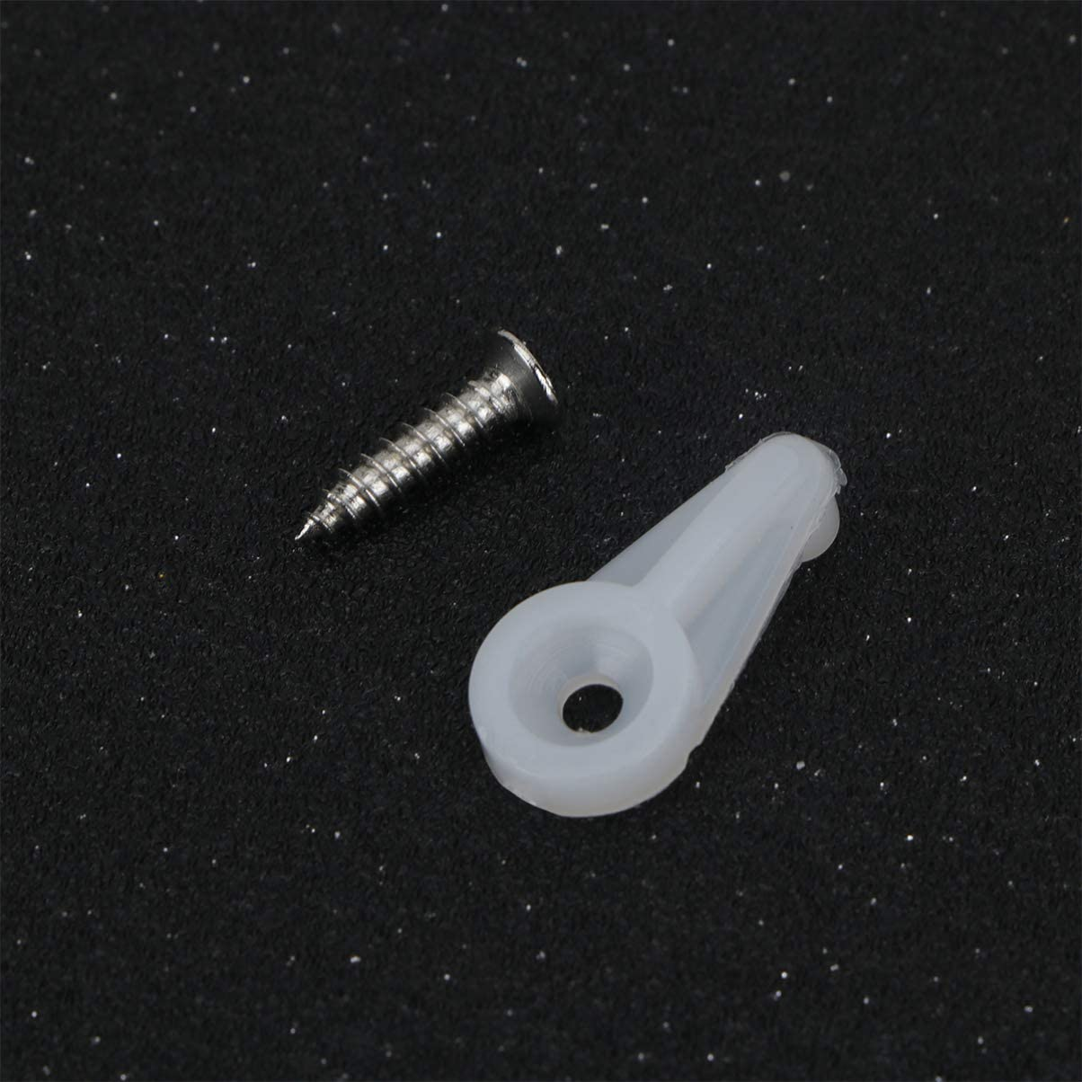 Yarnow 30pcs Retainer Clips Kit Panel Clips with Screws for Fixing Cabinet Doors with Screw White
