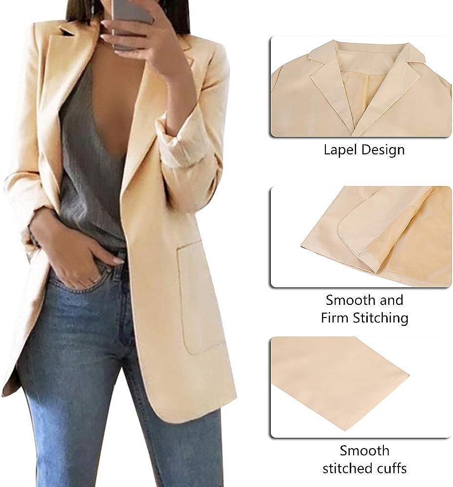 SEBOWEL Damen Blazer Smart Casual Cardigan Langarm Jacke