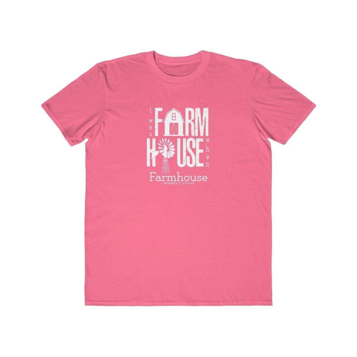 TXRepublic Farmhouse Mens Lightweight Fashion Tee Neon Pink