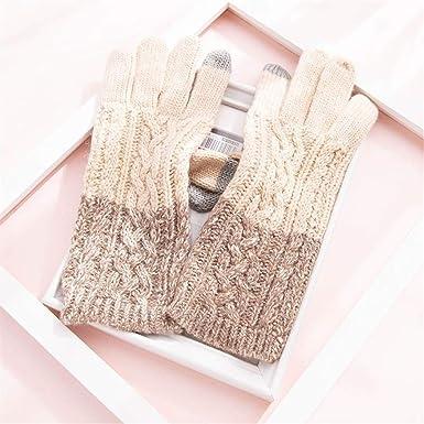 NOBRAND TYC Pantalla táctil de tejer guantes de lana guantes ...