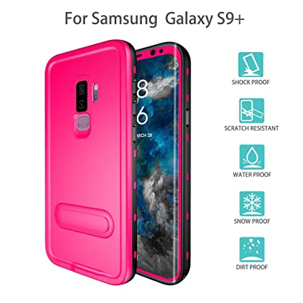 Redpepper-Waterproof Cas for Samsung Galaxy S9 Plus Snowproof Shockproof DirtProof Full Sealed Underwater Protective Cover Case (Pink)