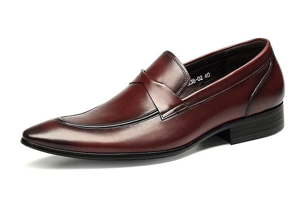 Herren Kleid Schuhe Leder Spitze Business Fashion Hochzeit Schuhe,rot,40