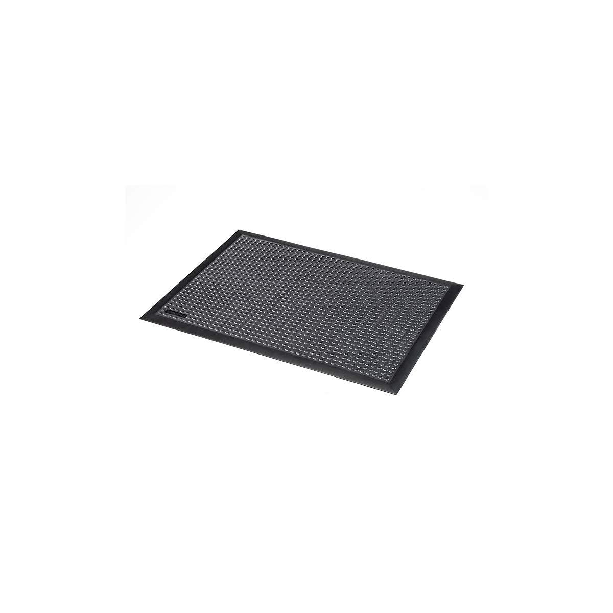 Naturgummi schwarz Arbeitsplatzmatte Arbeitsplatzmatten Bodenbelag Bodenschutzmatte Notrax Arbeitsplatzmatte genoppt LxBxH 1200 x 900 x 13 mm