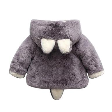 K-youth® Abrigos Niña, Bebe Niña Ropa Grueso Chaquetas de Invierno Niña Orejas de Conejo Abrigo con Capucha: Amazon.es: Ropa y accesorios