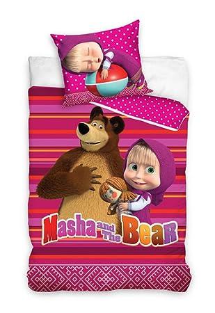 Masha Und Der Bär Bettwäsche Kinder Bettwäsche 140x200 Cm Pink