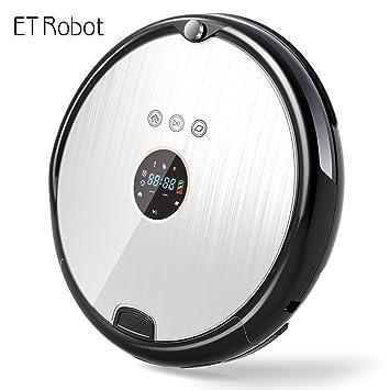 ET Robot Robot Aspirador Programable Ultrafino con Mopa(7.8cm de aspiradora Aspiradora Robot y