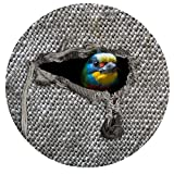 ShinefromCloud Cute Animal Rubber Round Anti-slip Bath Mats Floor Area Rug for Decor Decorative Entryway BedRoom Chair(Parrot)
