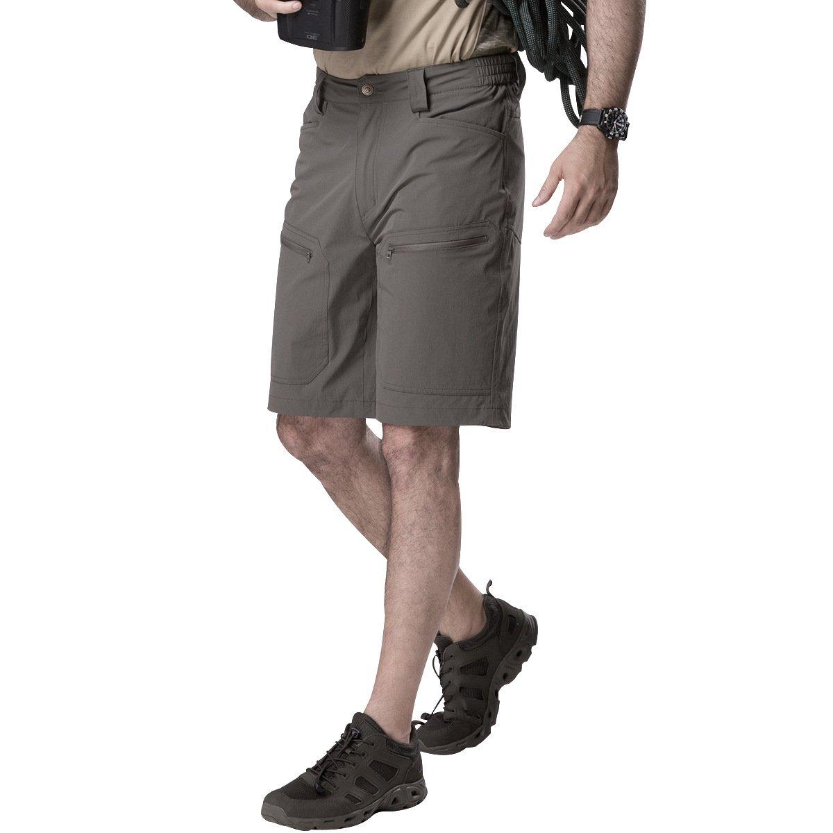 TALLA 34W. Pantalones cortos cargo ultraligeros de secado rápido, elásticos, de nailon