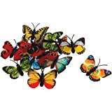 MonkeyJack Pack of 12pcs Multicolored Lifelike Butterfly Figurine Science & Nature Insects Model Kids Developmental Toy Collectibles