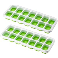 OMORC Cube, Easy-Release Silicone and Flexible 14-Ice Trays with Spill-Resistant Removable Lid, LFGB Certified & BPA…
