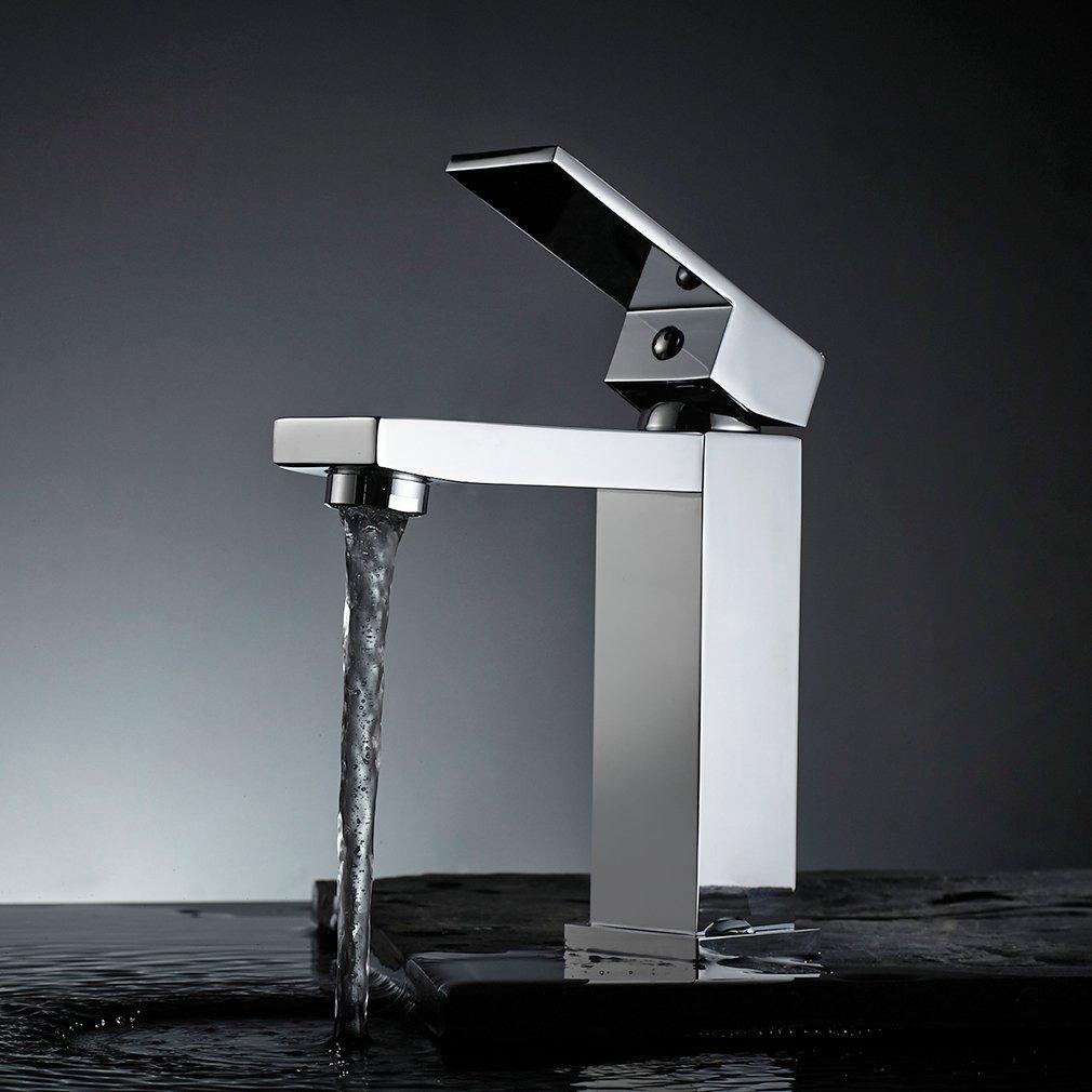 Bad Armaturen Messing Auralum Wasserhahn Einhebelmischer Waschtischarmatur Bidetarmatur Chrom