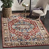 Safavieh Bijar Collection BIJ605R Red and Royal Blue Vintage Oriental Area Rug (10' x 14')