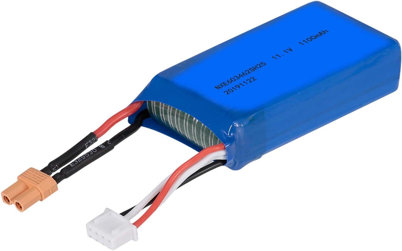 Godyluck- 11.1V 1100mAh 20C Batería de Litio Compatible con Wltoys XK X450 RC Avión ala Fija