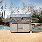 Napoleon Grills Prestige PRO 825 with Power Side Burner and Infrared Rear and Bottom Burners Propane Gas Grill Napoleon Grills