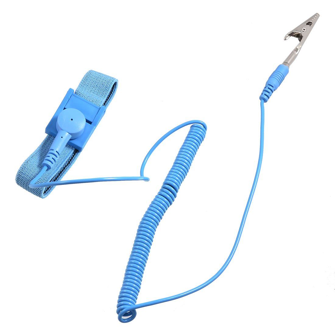 Uxcell a12091000ux0137 Anti Static ESD Adjustable Wrist Strap Band Ground Conductive w Cable