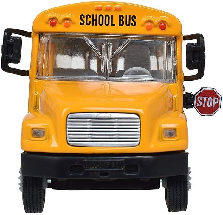ZY Pasajeros del autobús Escolar de simulación de Juguetes de los niños del Juguete del Coche de aleación Modelo de Coche de Juguete Colección de obsequios LOLDF1