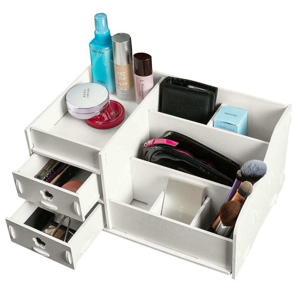 Leorx Caja De Almacenaje Organizadora Con Compartimentos Y Cajones  ~ Organizador De Joyas Para Cajones
