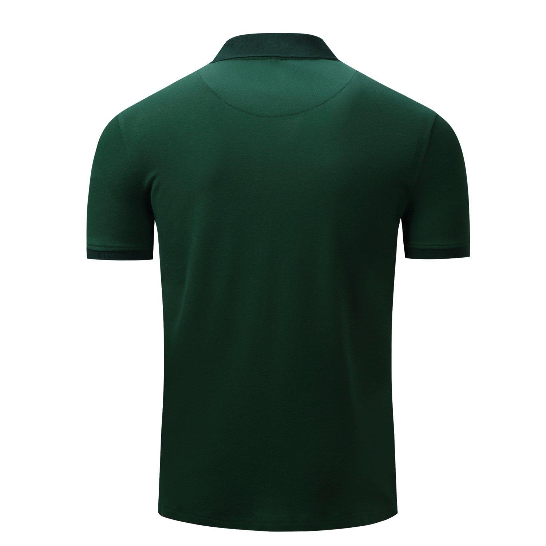 HULANG Mens Striped Polo Shirts Short Sleeve