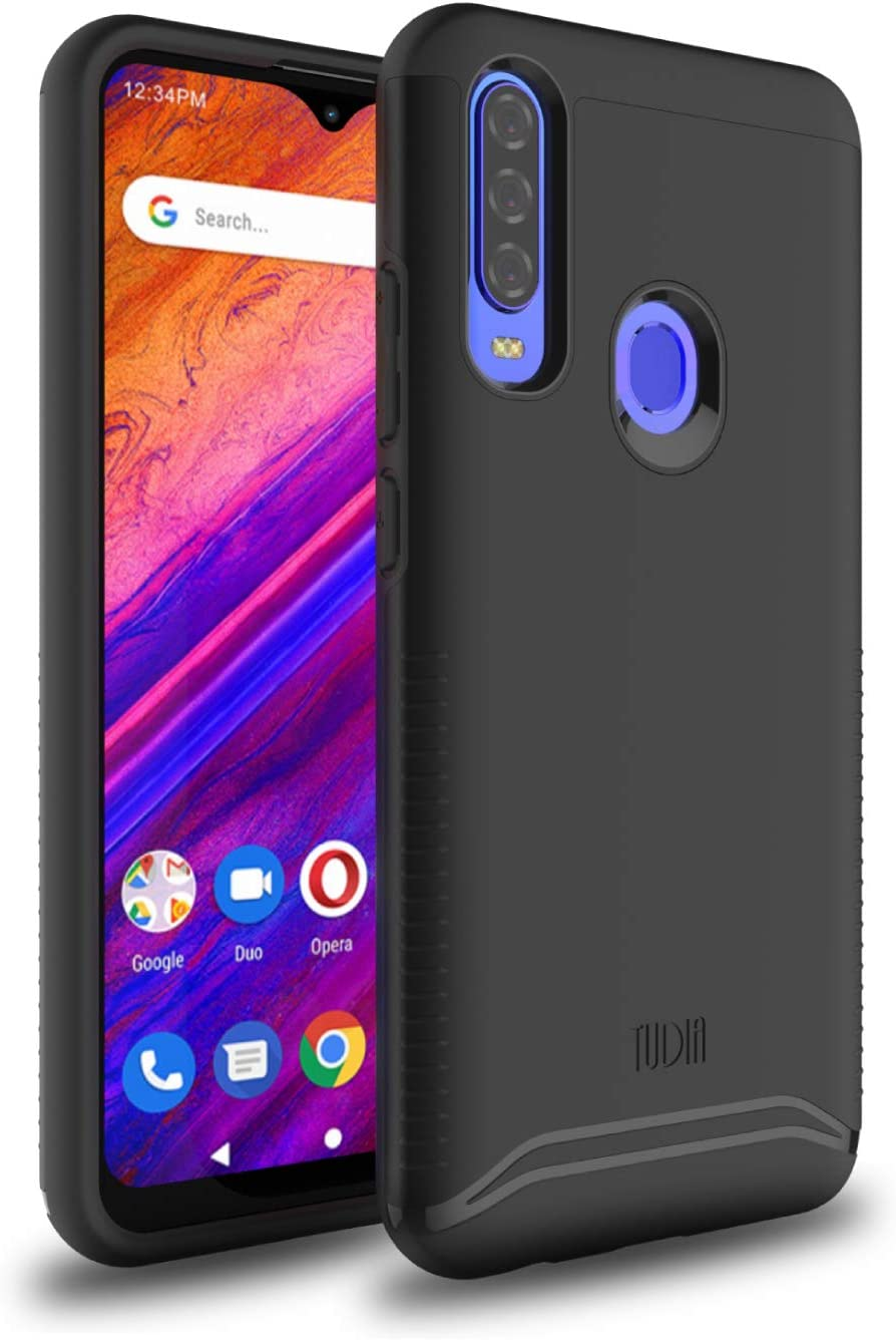 TUDIA BLU G9 Pro Case, Slim-Fit [Merge] Strong Heavy Duty Protective Shock Proof Dual Layer Precise Cutouts Rugged Bumper Style Phone Case for BLU G9 Pro (Matte Black)