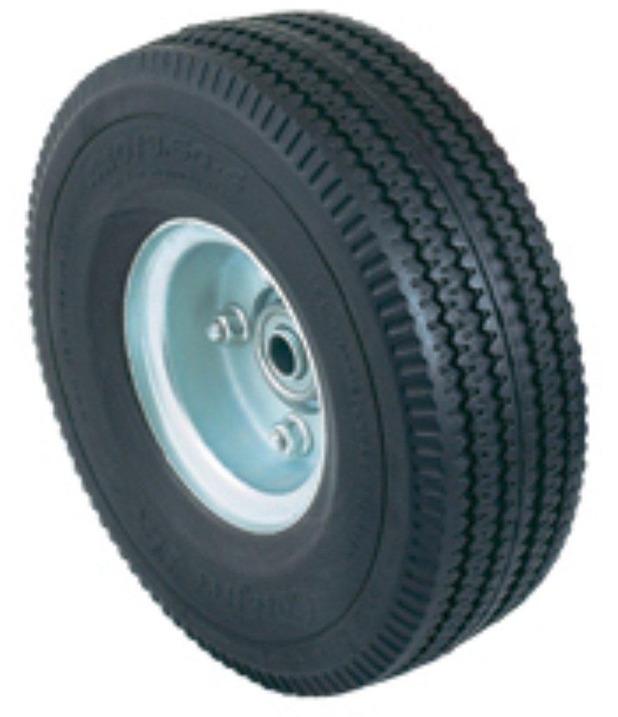 Harper Trucks WH 01A Flat Free Micro Cellular Foam 10 Inch by 3 Inch Hand Truck Wheel