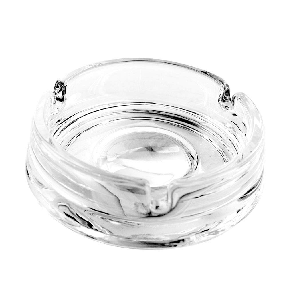 ZDD Crystal Glass Ashtray/Creative Personality Home Practical Ashtray/Decorative Ornaments Gift Transparent (ø11cm H3.5cm)