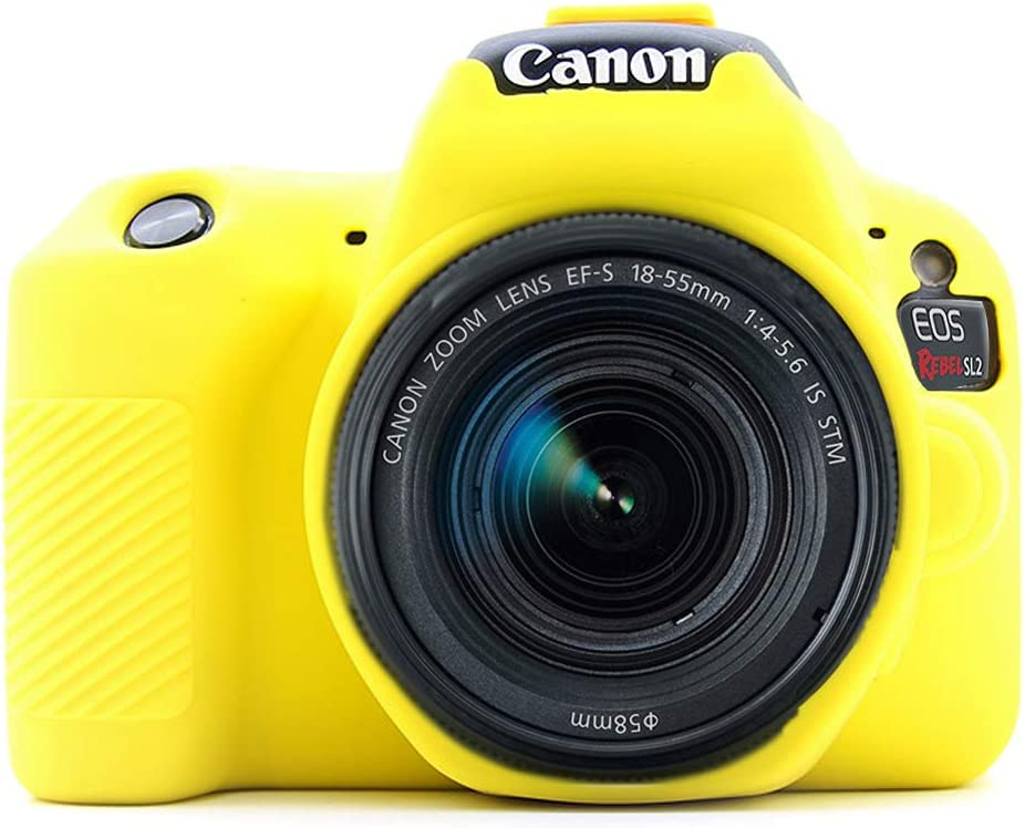 Amarillo Silicona Funda para Suave Silicona Goma cámara Protectora ...
