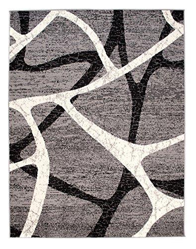 Tapiso Dream Dream Dream Teppich Wohnzimmer Modern Grau Creme Schwarz Kreise Meliert Kurzflor Design Gästezimmer Schlafzimmer Esszimmer ÖKOTEX 140 x 200 cm B06VVZKQBD Teppiche 529c14