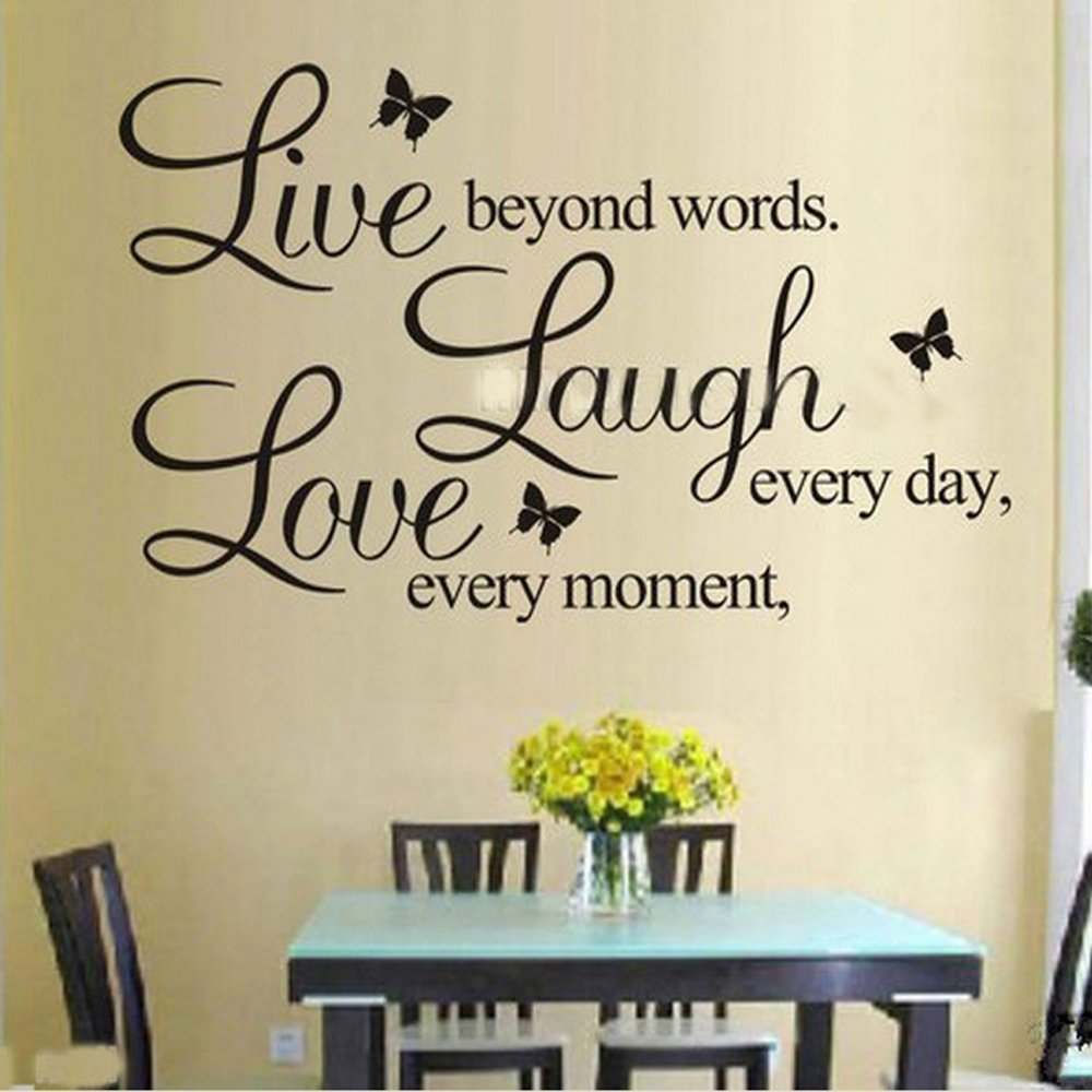 Exceptionnel Amazon.com: Live Laugh Love Butterflies Wall Decals /PVC Removable Art Home  Wall Sticker/Room Wall Decor: Baby