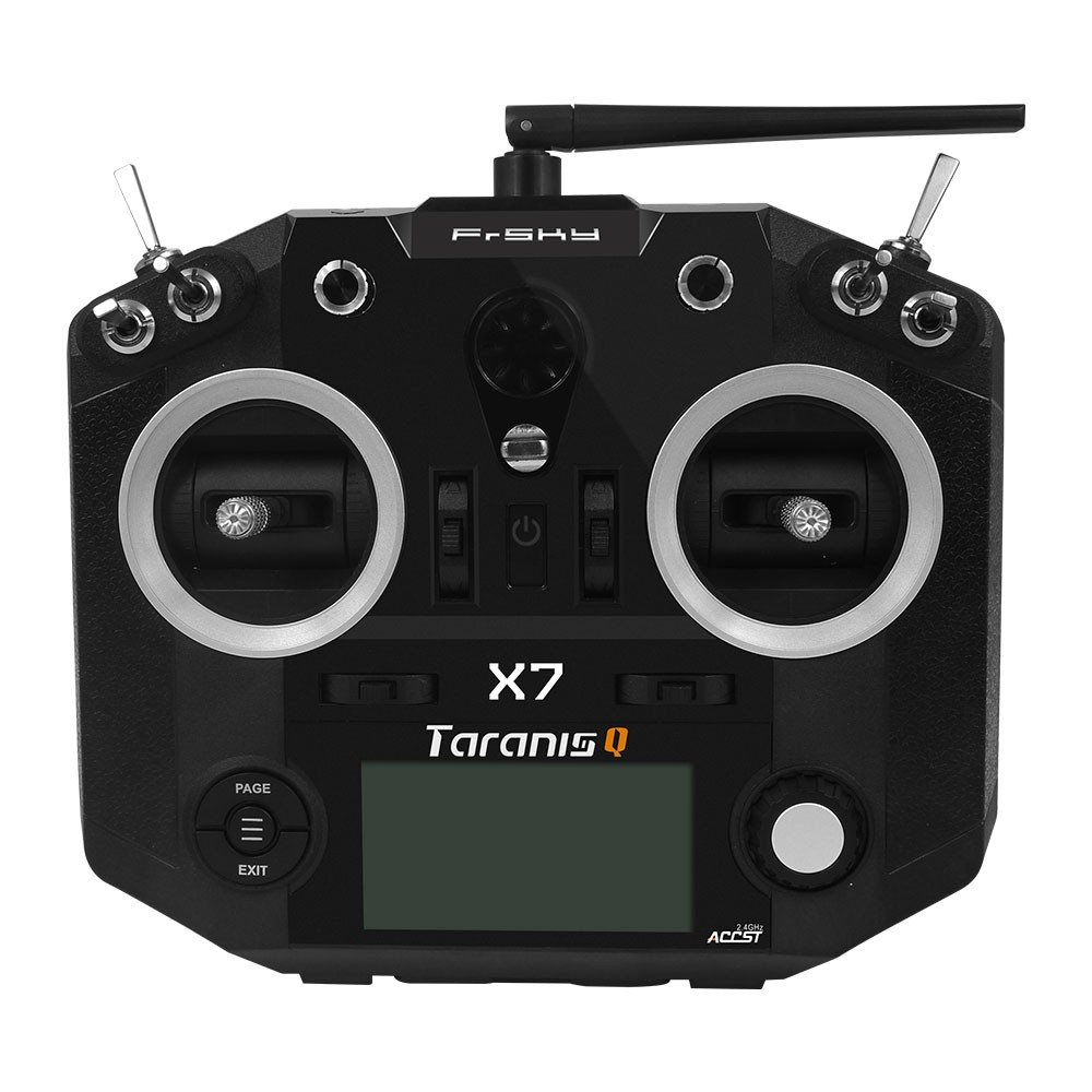 Frsky ACCST Taranis Q X7 2.4G 16CH RC Transmitter for FPV Racing Drones (Black)