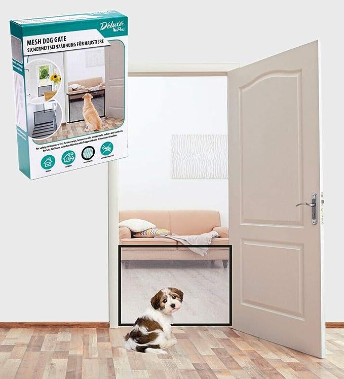 Deluxa Hunde Tier Türschutzgitter Treppenschutzgitter Hundeabsperrgitter Treppenschutz Portable Hund Safe Guard, Pet Sicherhe