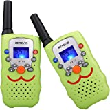 Retevis RT32 Kids Walkie Talkies VOX Scan Call Alarm Monitor 2 Way Radio Handheld Walkie Talkies with LED Flashlight for Birthday Gift Christmas(Green, 1 Pair)