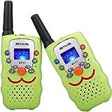 Retevis RT32 Kids Walkie Talkies VOX Scan Call Alarm Monitor 2 Way Radio Handheld Walkie Talkieswith LED Flashlight for Birthday Gift Christmas(Green, 1 Pair)