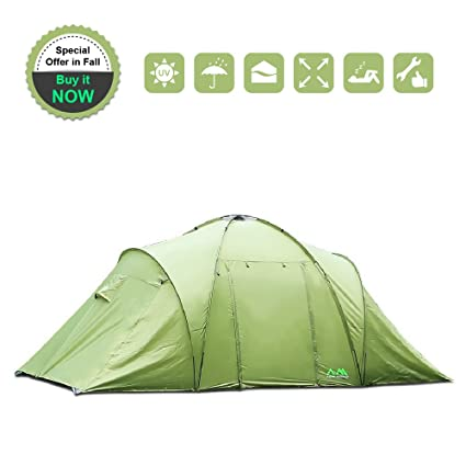 Arctic Monsoon Family C&ing 2 Room Tent Starry T2 4-6 Person Lightweight Waterproof  sc 1 st  Amazon.com & Amazon.com : Arctic Monsoon Family Camping 2 Room Tent Starry T2 ...
