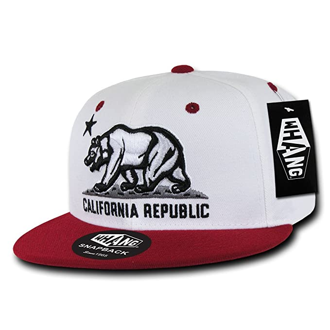 ec479bb78f7 Amazon.com  California Republic Camo Print Flat Bill Snapback by WHANG  (Universal Digital)  Clothing