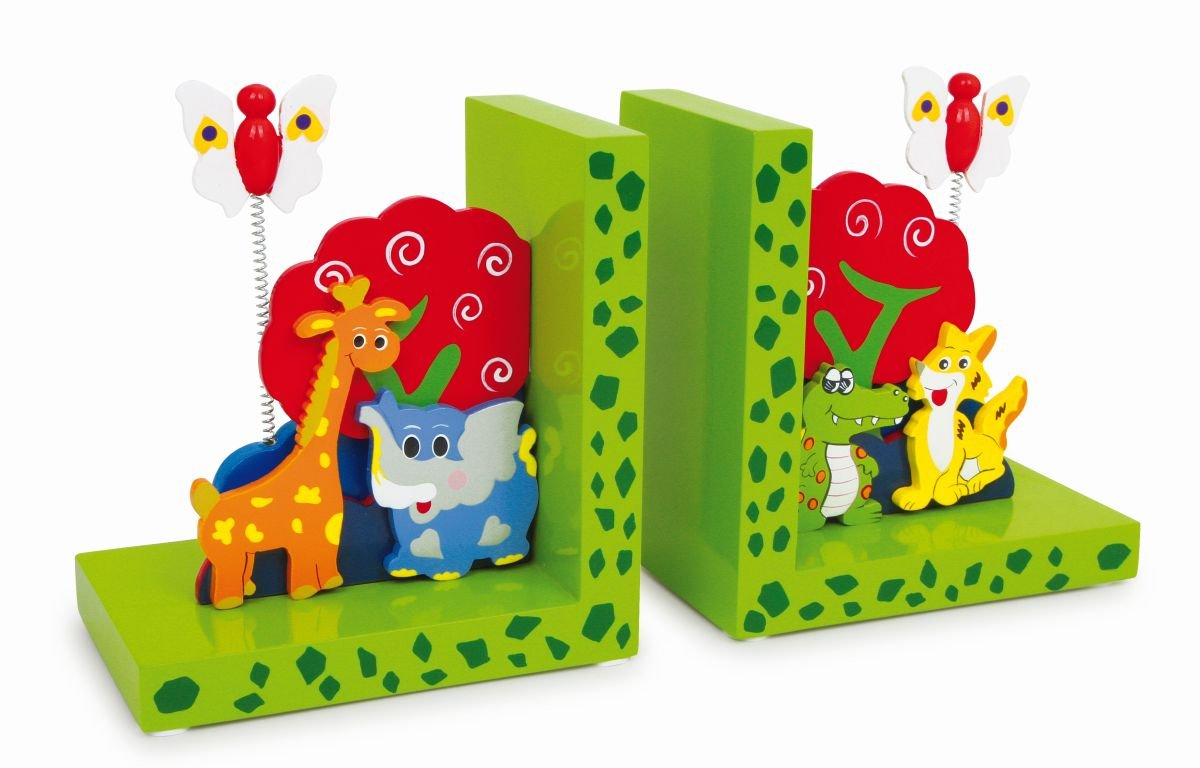 Set of 2 Wild Animal Bookends Legler 2020555