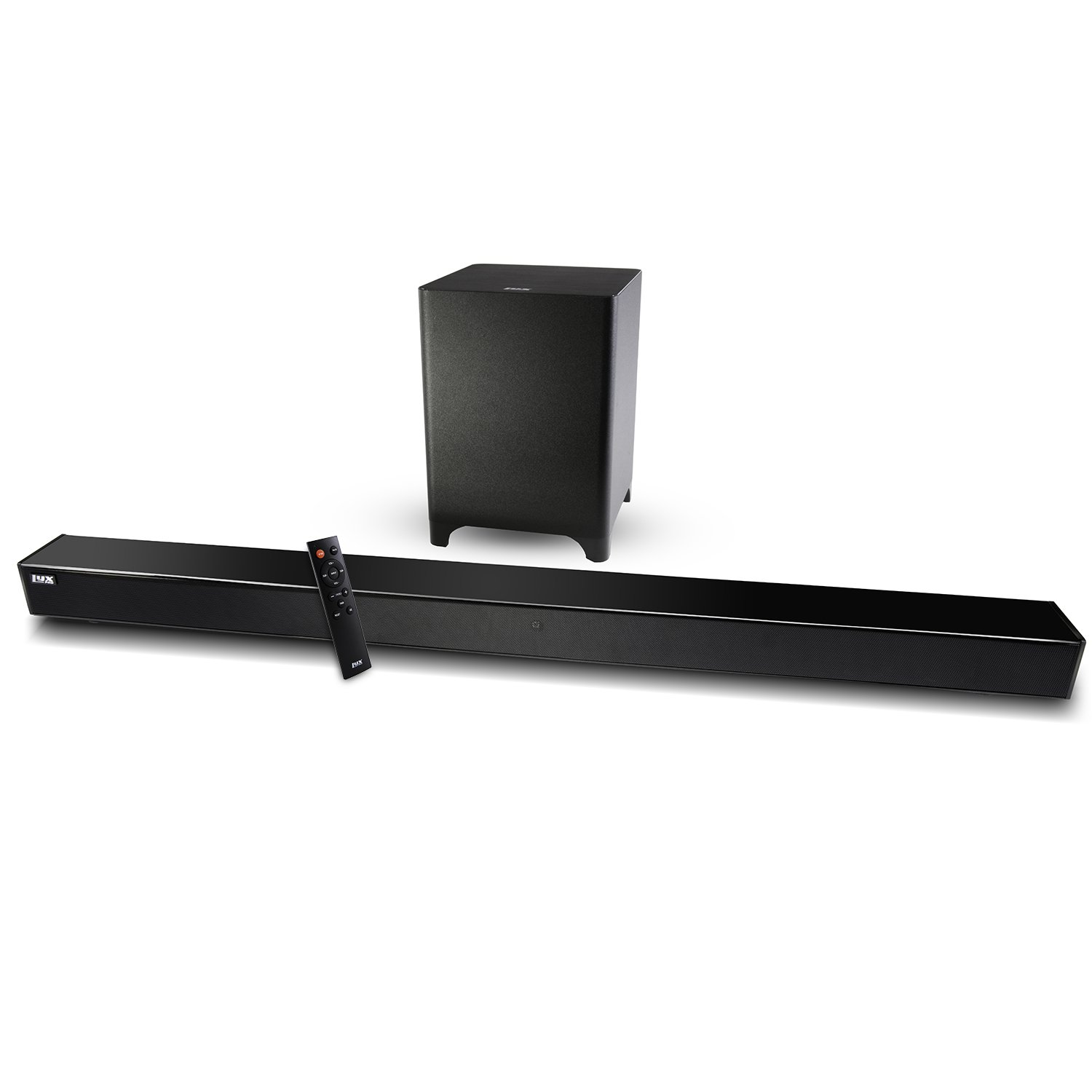 LyxPro Sound Bar System Bluetooth Soundbar Speaker Plus Wireless Subwoofer for TV, Home Theater, PC, Cellphone, Tablet & More, Includes Remote Control, DC Adapter, Wall Mount Kit & 3.5mm Cable by LyxPro