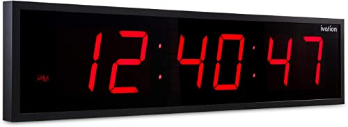 Ivation Huge Large Big Oversized Digital LED Clock