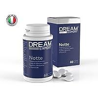 Dream Expert - 60 cpr - Notte - sonnifero naturale a base di Melatonina(1mg), Valeriana(256mg), Luppolo(128mg), Passiflora(85mg) e Vitamina B6(1,4mg) - Notificato al Ministero della Salute Italiano