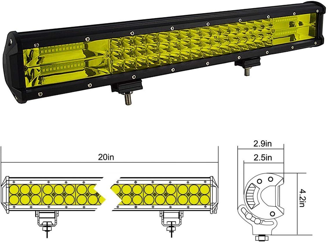 5 Zoll 12.7cm 72W Flutlicht Offroad Beleuchtung f/ür 4x4 SUV ATV UTV Auto traktor 6000K IP67 Wasserdicht 12V 24V Gelb LED Zusatzscheinwerfer Bar SKYWORLD led arbeitsscheinwerfer bar