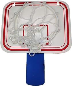 Silfrae Basketball Trash Can Basketball Hoop Trash Can Office Basketball Trash Can Basketball Goal Trash Can Basketball Hoop for Garbage Can Office Living Room and Bed Room (Blue Clip)