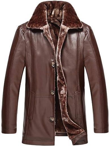 Veste Homme en PU Faux Leather Slim Fit